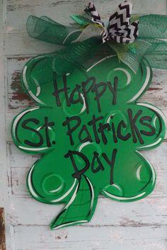 St. Patricks Day Door Hanger Spring Door by BluePickleDesigns, $45.00