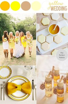 The Perfect Palette Yellow Wedding Inspiration yellow weddings, colour theme, palett yellow, inspirati diver, vow renew, perfect palett