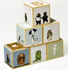 Animal Alphabet Blocks - Set of 6, $30.00