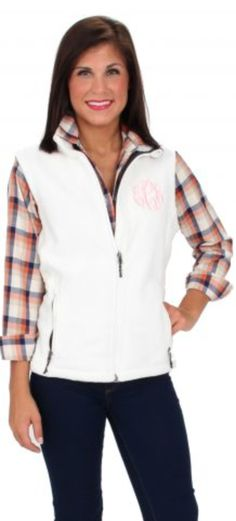 Monogrammed Vest and Flannel Shirt (shirt is from Monday Dress, Vest from Marley Lilly)