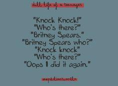 Britney Spears knock-knock joke.