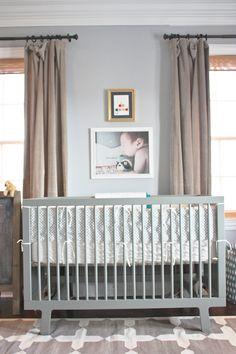 Modern and grey nursery