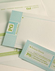 Interlock Personalized Letterpress Stationery. elum.