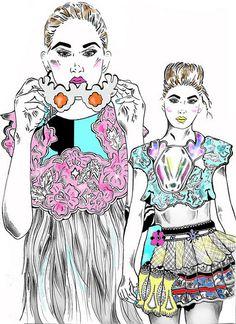 Emma Lundgren textiles illustration for Amelias Magazine