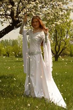 Celtic wedding dress.