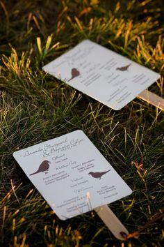DIY Fan Wedding Program  http://www.intimateweddings.com/blog/easy-diy-wedding-programs-tutorial/