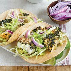 Chimichurri Fish Tacos | CookingLight.com