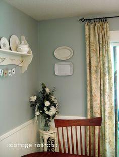 Devine Reflection on the dining nook wall  via cottage instincts: Fallishness 2011. #devinecolor #devinereflection #paint #blue #green