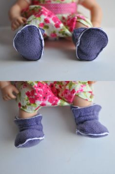 Free pattern for fleece baby booties