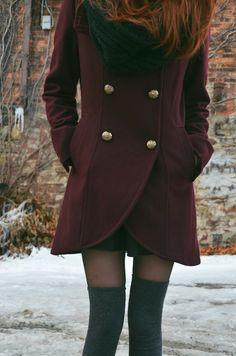 #winter #outerwear #coats #layers #purple #inspiration