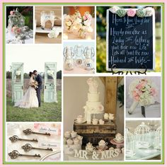 Shabby Chic Wedding Inspirations.....the months are rolling by....@Kenny Chang Wilkins