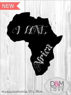 Africa chalkboard wall mounted by D&M made with love