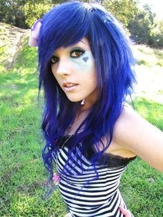 colorful emo hair - Google Search
