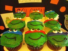 Ninja Turtle Party- Ninja Turtle Cupcakes