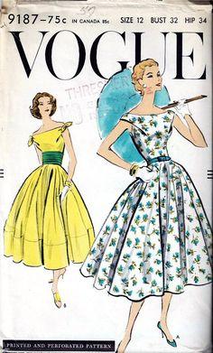 Vogue 9187, ca 1957; Sz 12/Bust 32