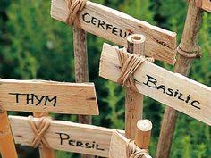 idée d'étiquettes pour le jardin