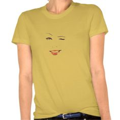 Winking Young Woman T-shirt