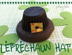 Leprechaun hat with girl scout cookie and reeses :)  Cute and easy!