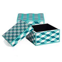 Geo Boxes - Aquamarine | Jewelry-boxes | Accessories | Z Gallerie