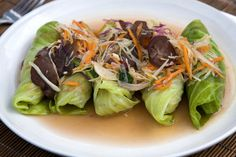 For the love of lettuce, a recipe for chicken lettuce wraps that cuts out the extra calories.