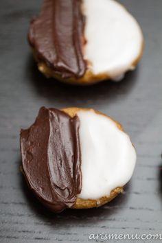 vegan black and white cookies