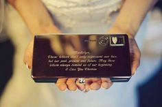 Military love letter wedding gift. So perfect.