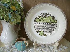 Vintage Apple Pie Plate Green Apple Pie by QueeniesVintageFinds