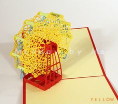 3D Popup Card Ferris Wheel on Etsy, $9.50