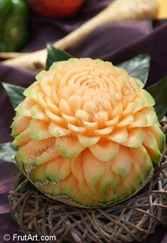 Carved fruits and vegetables - amazing!