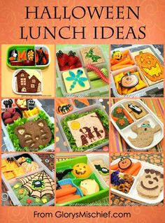 Halloween Kids Bento School Lunches - Healthy Ideas From GlorysMischief.com