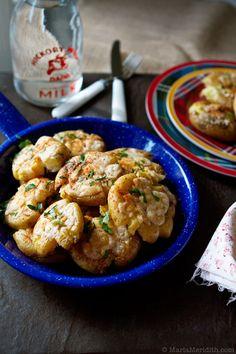 Parmesan Smashed Potatoes | recipe on FamilyFreshCooking.com