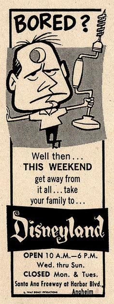 Don't trepan yourself! (Funny bad retro Disneyland ad)