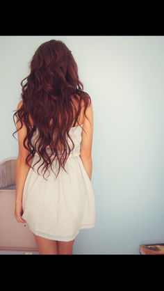dark red hair. love but don't think I could pull this off