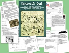 This set includes all the activities any high school English teacher needs to end the school year on a high note! $2.00TpT