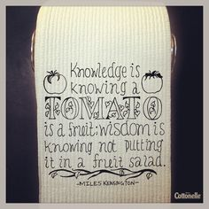 #MessageMonday: Knowledge is useless without wisdom.