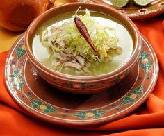 Pozole blanco - Mexican Food (Comida Mexicana)