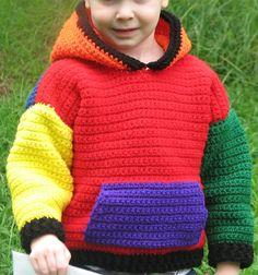Crocheted Children's Pullover Hoodie