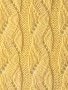 Openwork band spokes chart stitch, knit stitch