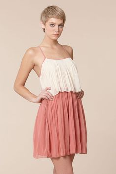 pleated 20's style dress