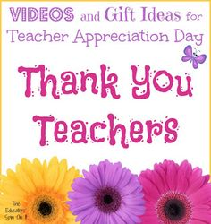 Teacher Appreciation Gift Ideas from The Educators' Spin On It and many of our teaching friends!