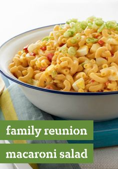Family Reunion Macaroni Salad -- Family gathering? With hard-cooked eggs, celery, and a secret ingredient (Miracle Whip Dressing), golden-child status is yours. Bonus: This recipe can be ready in 20 minutes time.
