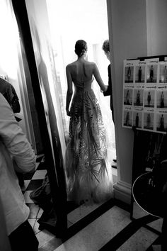 Backstage at Paris Couture Week