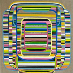 Beyond reasonable doubt, painting by Jessica Snow #stripes #art