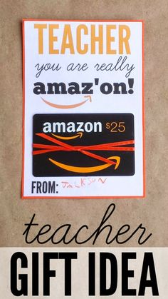 Quick & easy teacher gift idea w/ free printable. Great End of the Year gift or great  for any occasion.