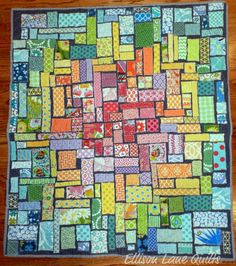 tape quilt, ticker tape, applique quilts, colorful quilts, inspir