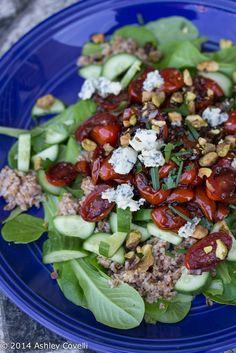Bulgur Salad with Balsamic Tomatoes