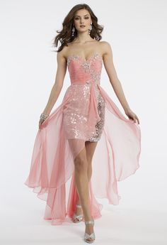 Camille La Vie Sequin Short and Long Prom Dress