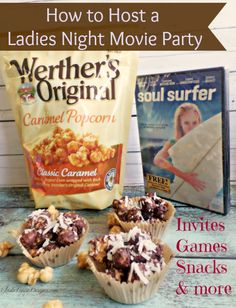How to Host a Ladies Night Munch and Movie Mommy Party! featuring Werther's Original® Caramel Popcorn #caramel #popcorn #wertherscaramel #ad