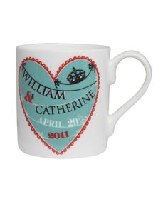 Royal wedding heart mug from Liberty!