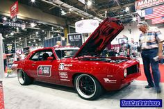 We need more Camaros (and other cars and trucks) in the Test Car Database! I took this one of Mark Stielow's '69 Camaro at SEMA 2010 in the Optima Batteries booth. Add your ride to the Test Car Database and be eligible to win giveaways...and possibly be picked by our sponsors for testing or parts sponsorship.  Add your vehicle for your chance to win hot rod parts at http://www.testcardatabase.com/portal/StartHere.aspx #MarkStielow #RedDevil #Camaro #TestCarDatabase #TonyHuntimer #OUSCI